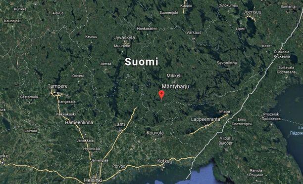 Turma tapahtui noin neljä kilometriä Mäntyharjun eteläpuolella.