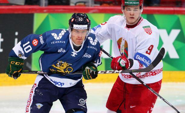 Eemeli Suomi (vas.) teki eilen Suomen toisen maalin.
