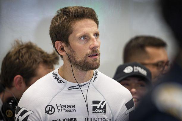 Romain Grosjeania harmitti kolarointi Valtteri Bottaksen kanssa.