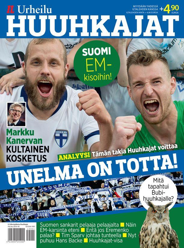 Iltalehden Huuhkajat-erikoislehti on futisfanin todellinen keräilykappale.