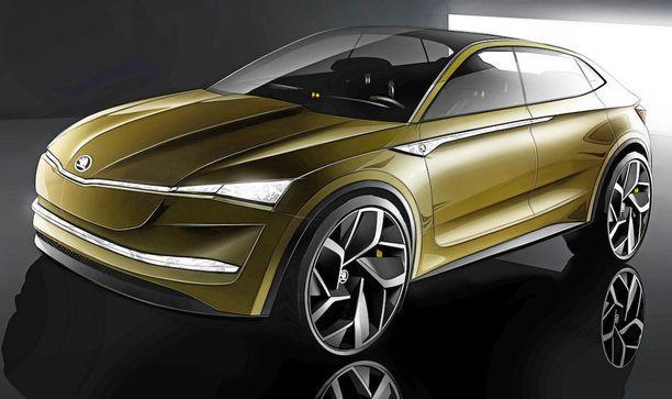 Skodan ensimmäisen sähköauton konseptimalli on viisiovinen katumaasturi. Se voi enteillä coupekatumaasturin tuloa Skodan mallistoon jo lähitulevaisuudessa.