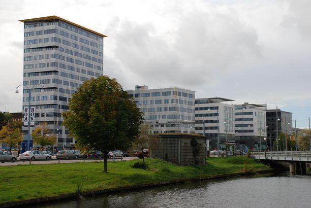 Mies tuomittiin Göteborgissa. Kuvassa Göteborgin oikeuskeskus.