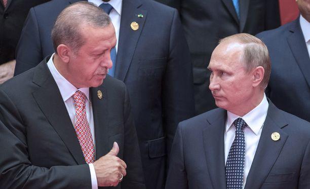 Turkin presidentti Recep Tayyip Erdogan ja Venäjän presidentti Vladimir Putin tapasivat syyskuun alussa Kiinassa.