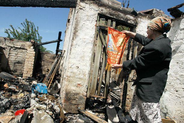 Sotatoimet Itä-Ukrainassa jatkuvat jo viidettä vuotta. Kuva toukokuun lopulta 2018.