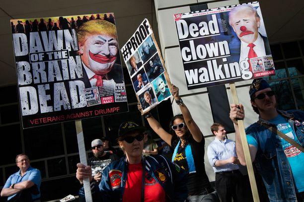 Mielipidemittausten mukaan vastustus Trumpia kohtaan on kasvamassa.