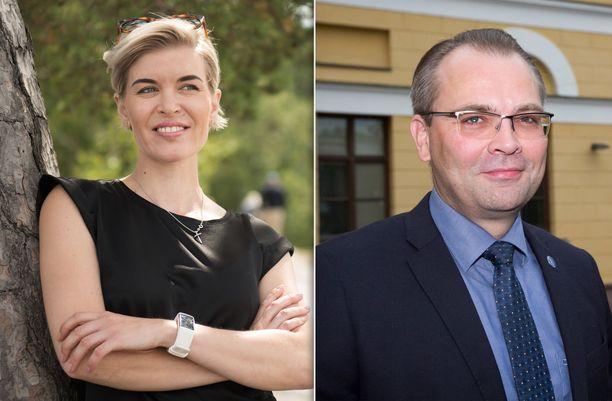 Susanna Koski ja Jussi Niinistö pyrkivät Kannuksen kaupunginjohtajaksi.
