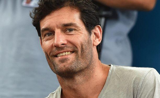 Mark Webber on tuttu näky tenniskatsomoissa.
