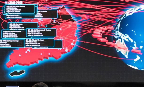 WannaCry-haittaohjelma ja sen versiot saastuttivat tietokoneita yli sadassa maassa toukokuussa. Kuvistuskuva.