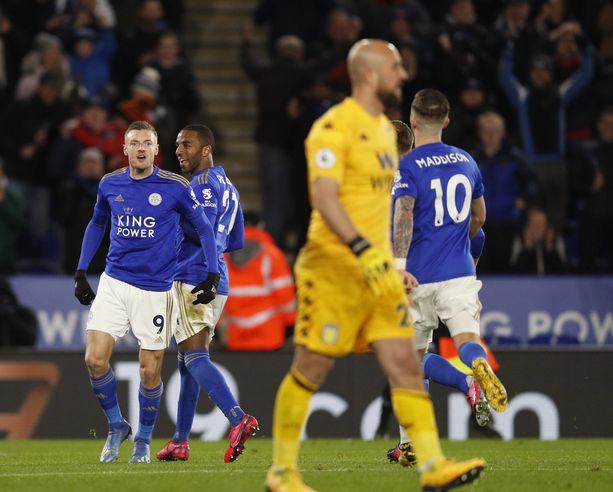 Jamie Vardyn (9) Leicester City kohtaa vieraissa Watfordin.