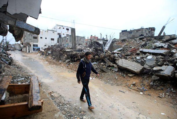 Gazan talot ovat maan tasalla.