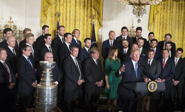 Stanley Cupin voittanut Pittsburgh Penguins vieraili tällä viikolla Valkoisessa talossa.