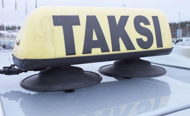 Sekava kaksikko piinasi taksikuskia maanantai-iltana. Kuvituskuva.