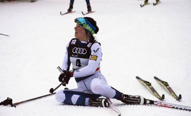 Krista Pärmäkoski kuvaili lauantain kilpailua Italiassa hapokkaaksi.