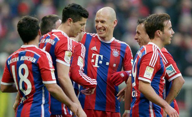 Bayern München järjesti hurjat maalikarkelot.