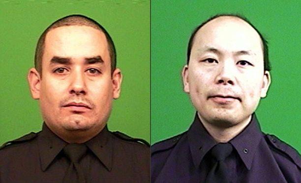 Sattumalta uhreiksi valikoituneet Rafael Ramos, 40, ja Wenjian Liu, 32, kuolivat jengiläisen luoteihin.