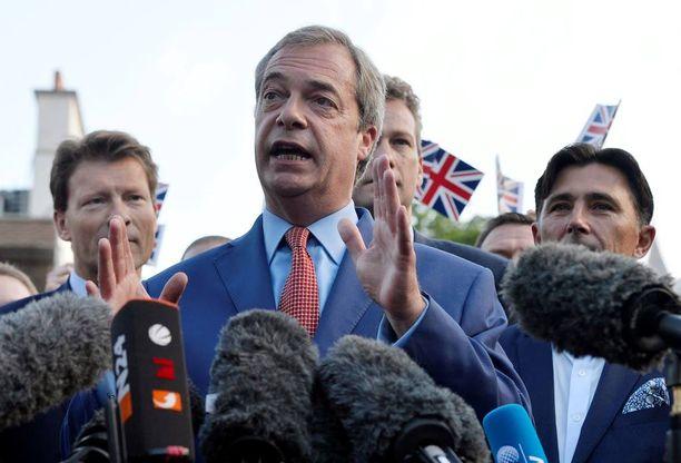 UKIP-puolueen puheenjohtaja Nigel Farage on ajanut äänekkäästi Iso-Britannian eroa EU:sta.