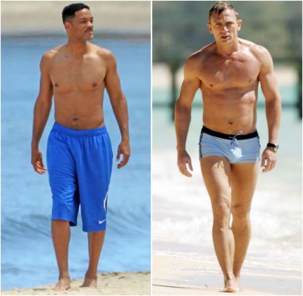 Miehet haluaisivat Will Smithin tai Daniel Craigin fysiikan.