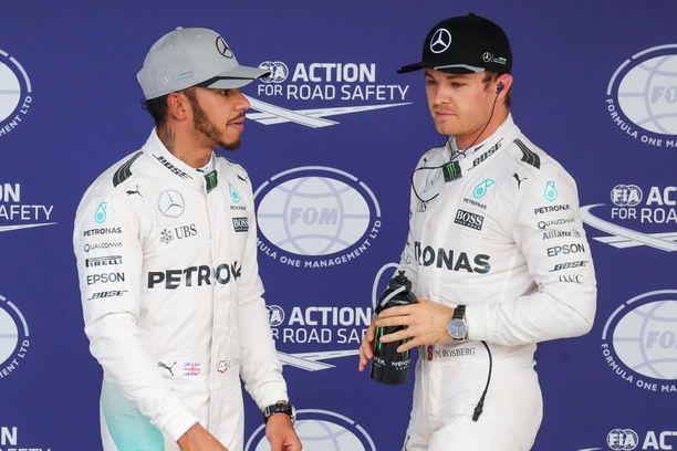 Nico Rosberg pisti Hamiltonin tiukille yhteisten vuosien aikana.