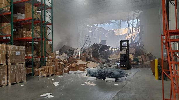 F-16 teki pahaa jälkeä, mutta automaattinen sammutusjärjestelmä tukahdutti tulipalon.