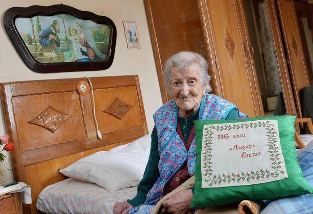 Maailman vanhin ihminen, Emma Morano, asuu Pohjois-Italiassa.