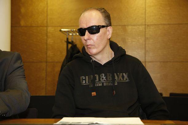 Michael Penttilä kuvattuna hovioikeudessa maaliskuussa 2018.