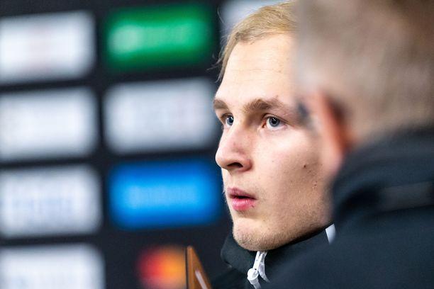 19-vuotias Kristian Vesalainen on pelannut Jokereissa kuusi KHL-ottelua tehoin 2+3=5.