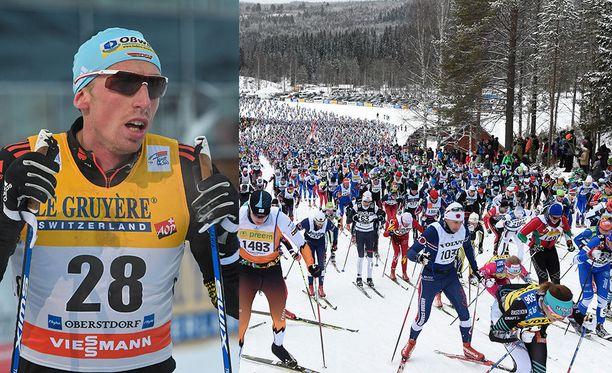 Tim Tscharnke jäi lopulta kauas kärjestä Vasaloppet-hiihdossa.