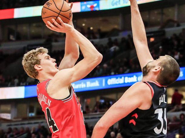 Lauri Markkanen ei päässyt loistamaan hallitsevaa NBA-mestari Toronto Raptorsia vastaan.