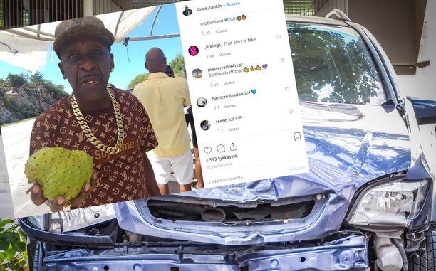 Kuvan auto ei liity Louie Rankinin auto-onnettomuuteen