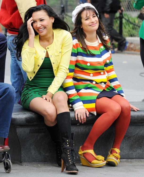 Naya Rivera ja Lea Michele tähdittivät yhdessä suosittua Glee-musikaalisarjaa.