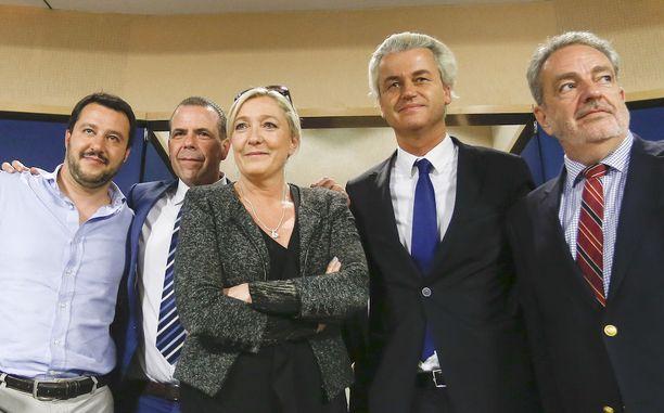 Vuonna 2014 Italian Pohjoisen liiton Matteo Salvini, Itävallan vapauspuolueen Harald Vilimsky, Ranskan Kansallisen rintaman Marine Le Pen, Hollanin Vapauspuolueen Geert Wilders, Belgian Vlaams Belangin Gerolf Annemaans halusivat perustaa EU-parlamenttiin uuden, äärioikeistolaisen ryhmän.