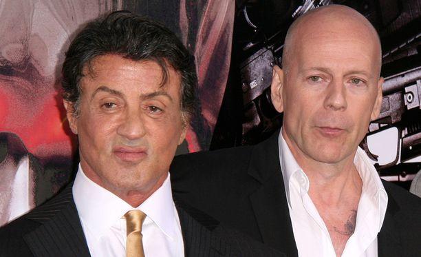 Sylvester Stallonen ja Bruce Willisin välit eivät ole enää parhaat mahdolliset.