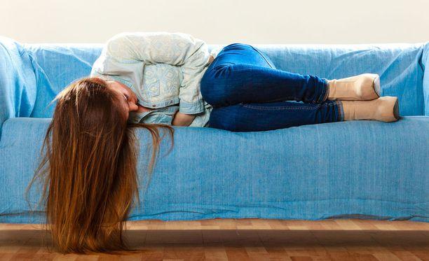 Brittitutkimuksen mukaan jonkinlaisista kuukautiskivuista kärsii jopa neljä naista viidestä.
