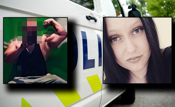 Voimanostoa harrastanutta 24-vuotiasta miestä (vas.) epäillään entisen tyttöystävänsä taposta. Milla Aronen (oik.) ilmoitettiin kadonneeksi kesäkuussa.