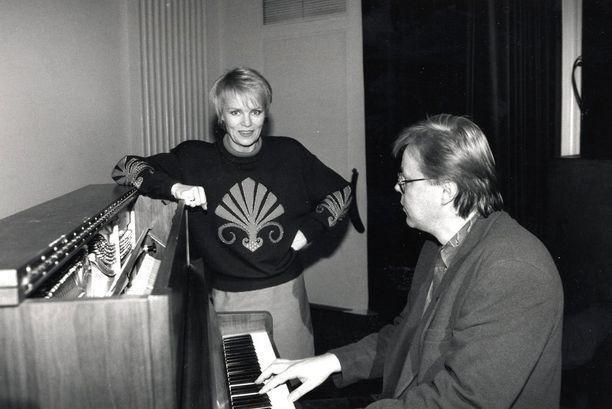 Esa Niemisen kanssa harjoittelemassa vuonna 1993.