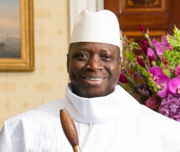 Yahua Jammeh hallitsi Britannian entistä siirtomaata Gambiaa vuosina 1994-2017.