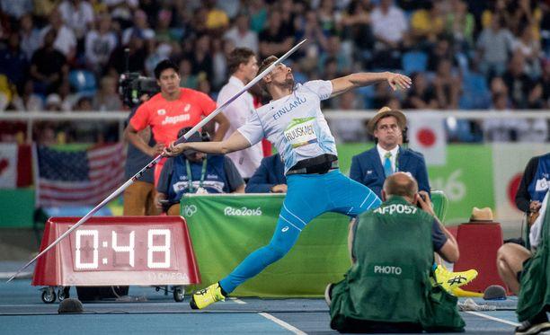 Antti Ruuskanen jäi Rion keihäsfinaalissa kirkkaimmasta kärjestä.