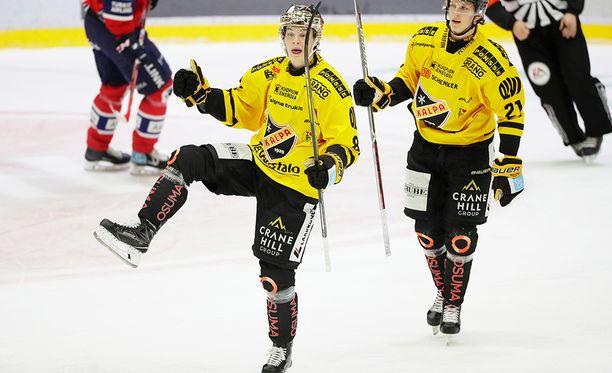 Alexander Ruuttu tuuletti Nordiksella kahta täysosumaa.