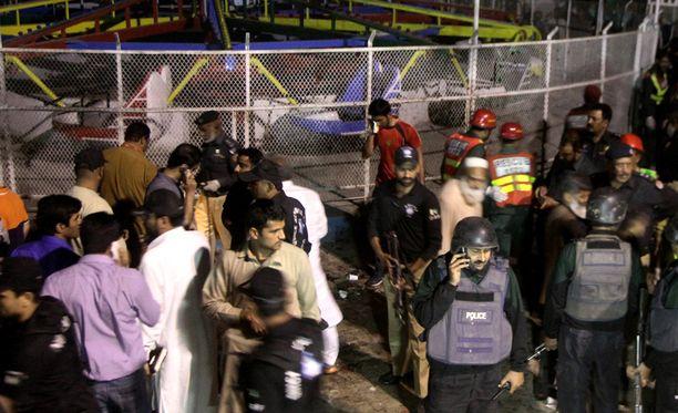 Räjähdyksessa kuoli kymmeniä ihmisiä.