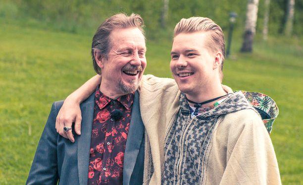 Pave Maijanen ja VilleGalle hikoilevat yhdessä.