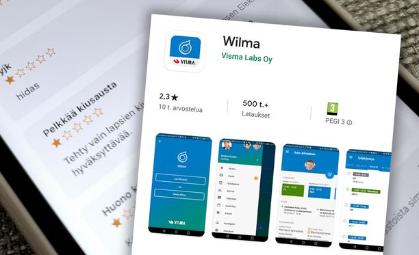 Wilma-sovellukselle sataa huonoja arvosteluja.