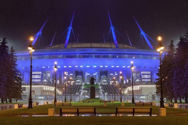 Tältä Krestovski-stadion näytti ulkoapäin kuvattuna syksyllä 2017.