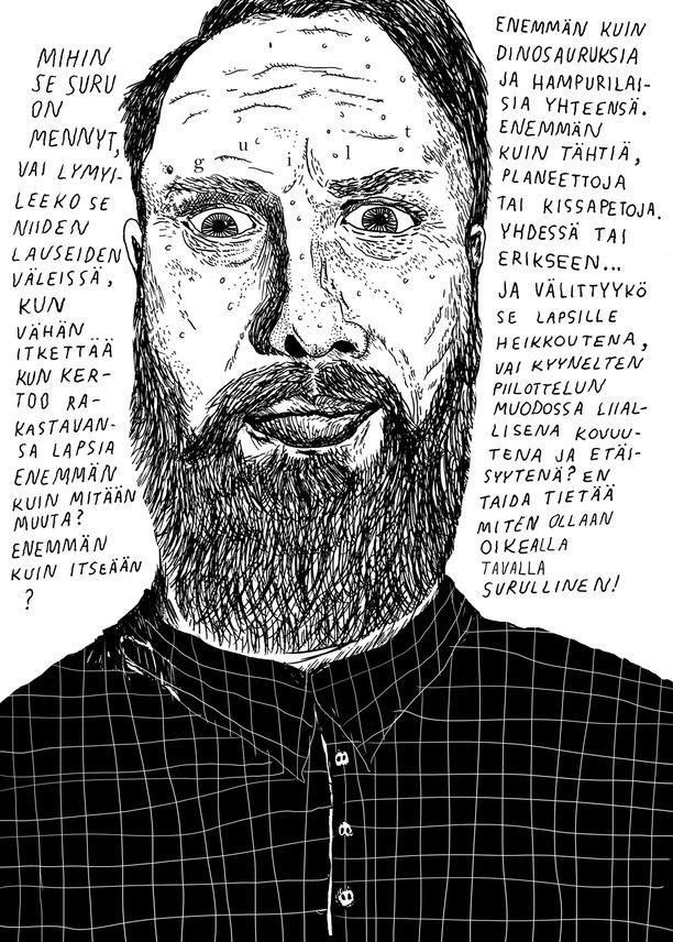 Kuva Lauri Ahtisen sarjakuvaromaanista Eropäiväkirja.
