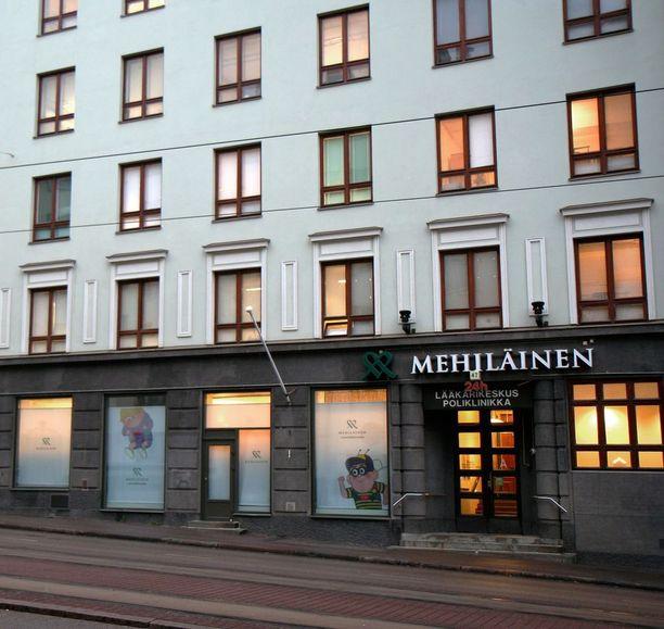 Mehiläisen sairaala Runeberginkadulla Helsingissä.
