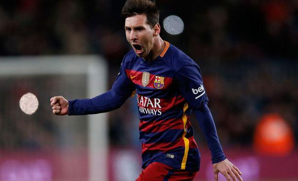 Lionel Messi johdatti Barcelonan voittoon.