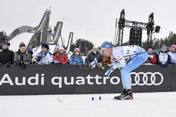 Fanit ja sponsorit innostuivat Iivo Niskasen huippumenestyksestä.