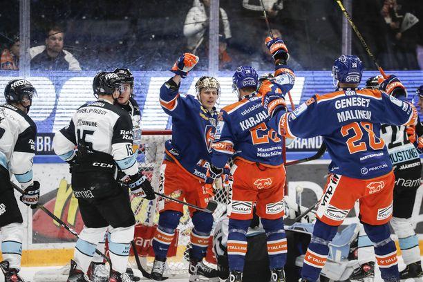 Tappara tuuletti tiistai-iltana voittoa Tampereella.