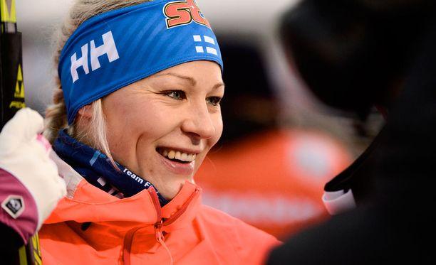 Anne Kyllönen voitti pyhänä Rukalla 30 kilometrin SM-kultaa.