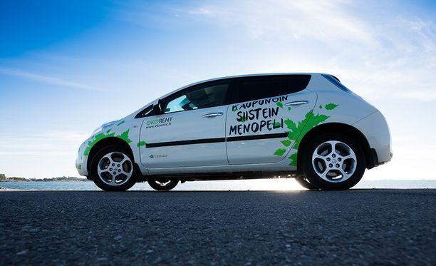 EkoRentin kaikki autot kulkevat puhtaasti sähkön voimalla.