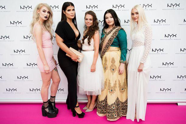 Finaaliviisikko Nordic Style Awards -gaalassa.